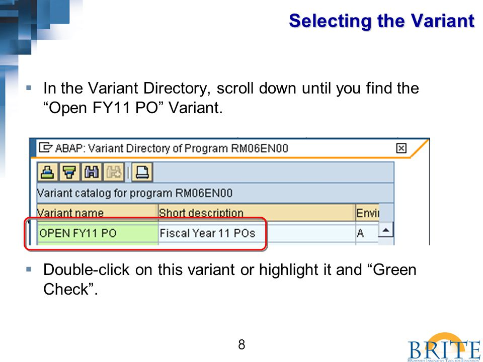 39 You should now be able to:  Set up and run an Open Purchase Order report for Fiscal Year 11.