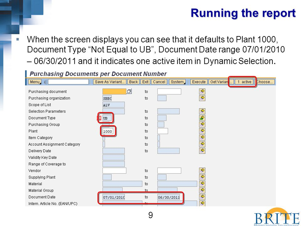 20 Setting up Filters  If you want to see details of the Fund filter selection you will need to Click on the 2 nd Step: Determine Values for Filter Criteria icon.