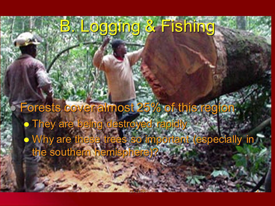 Commercial Fishing Commercial Fishing Represents a small portion of economy Represents a small portion of economy Ch 22 PP5