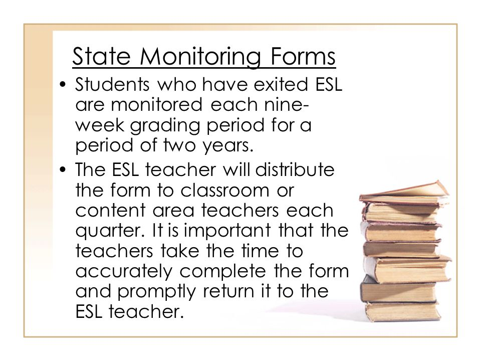 Exit Criteria A score of 5.0 or above on Tier C of the ACCESS for ELLs test.