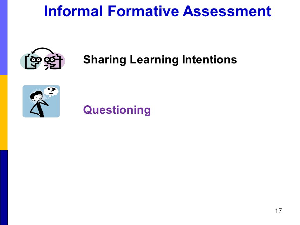 Sharing Learning Intentions Questioning 17 Informal Formative Assessment