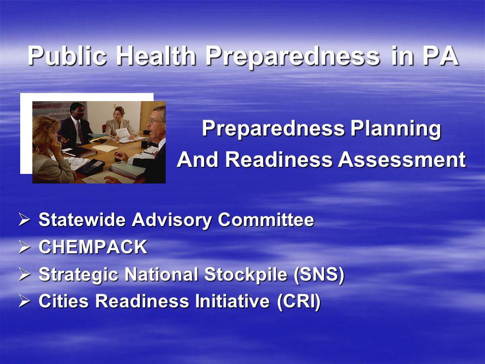 Public Health Preparedness in PA www.health.state.pa.us