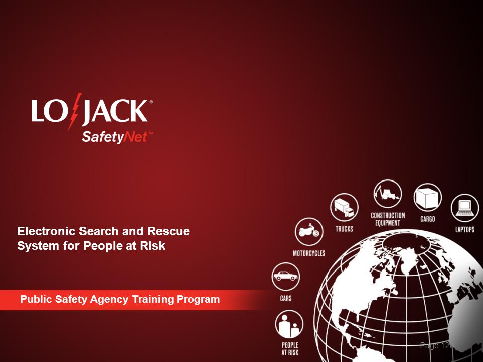 Electronic Search and Rescue System for People at Risk Page 128 Public Safety Agency Training Program
