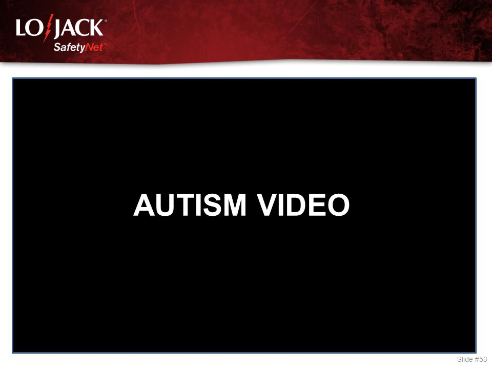 Slide #53 AUTISM VIDEO