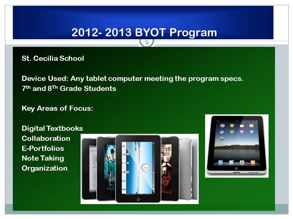 9 2012- 2013 BYOT Program St.