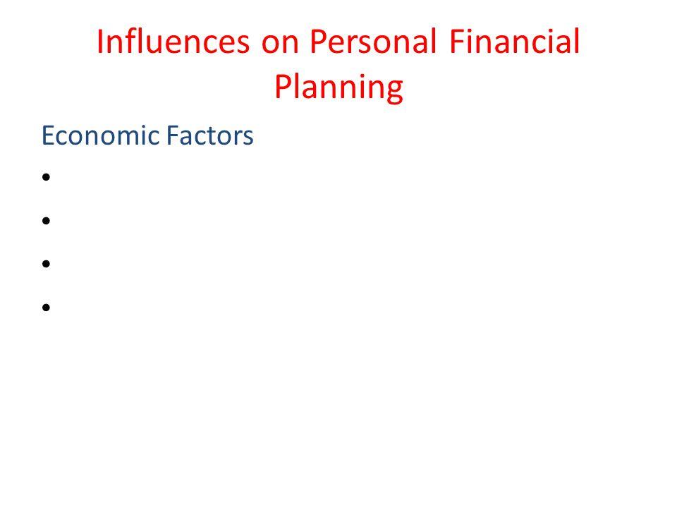 Influences on Personal Financial Planning Economic Factors