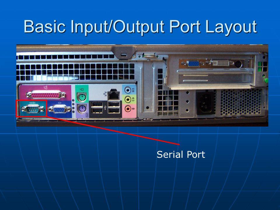 Basic Input/Output Port Layout VGA (Video) Ports VGA (Video) Cables