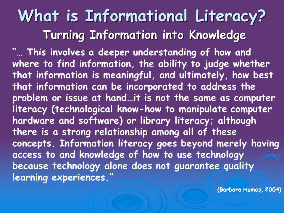 What is Informational Literacy.