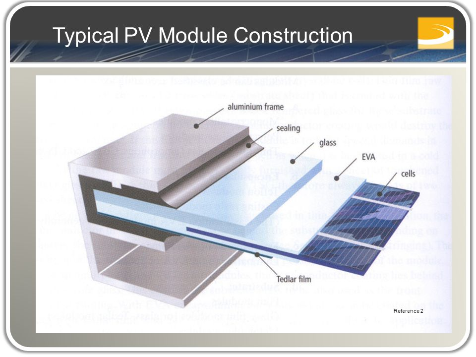 Typical PV Module Construction Reference 2