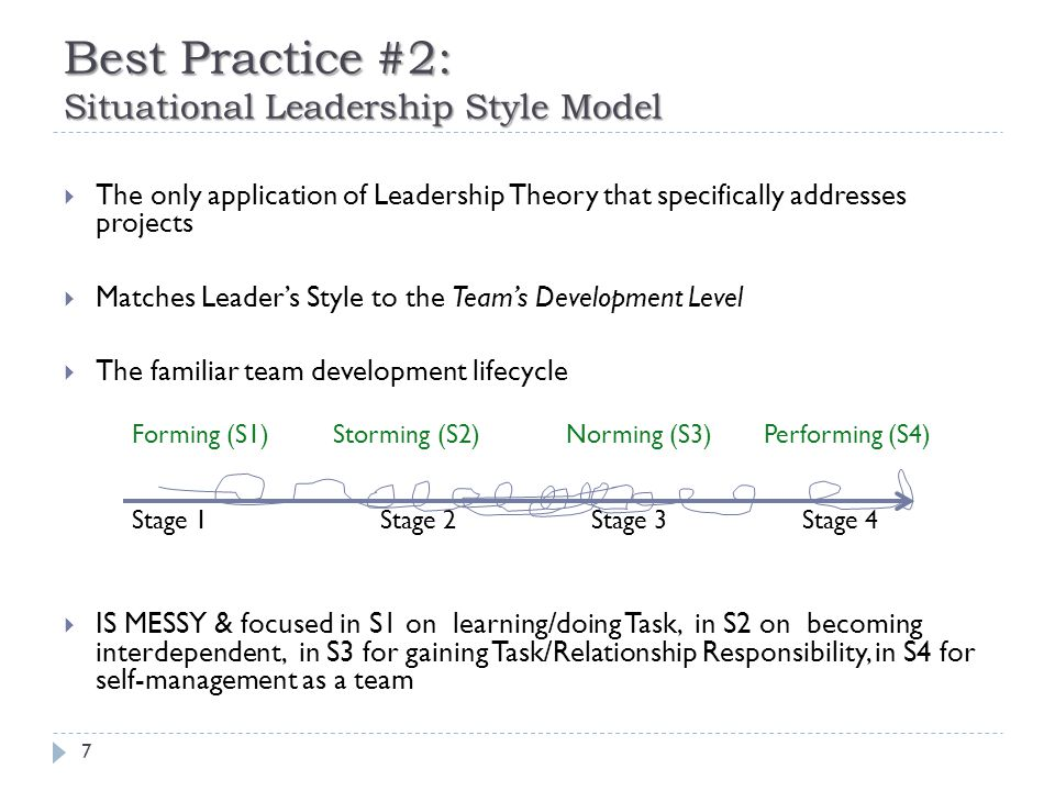 Best Practice #2: Situational Leadership Style Model (con't) 8 Today's Big Barrier: Distributed, not Co-located Teams Question: Which of these is the Central Office?