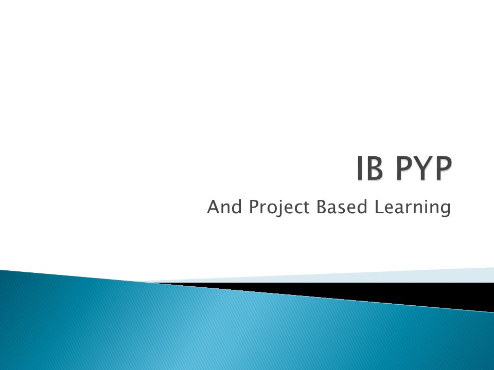 And Project Based Learning