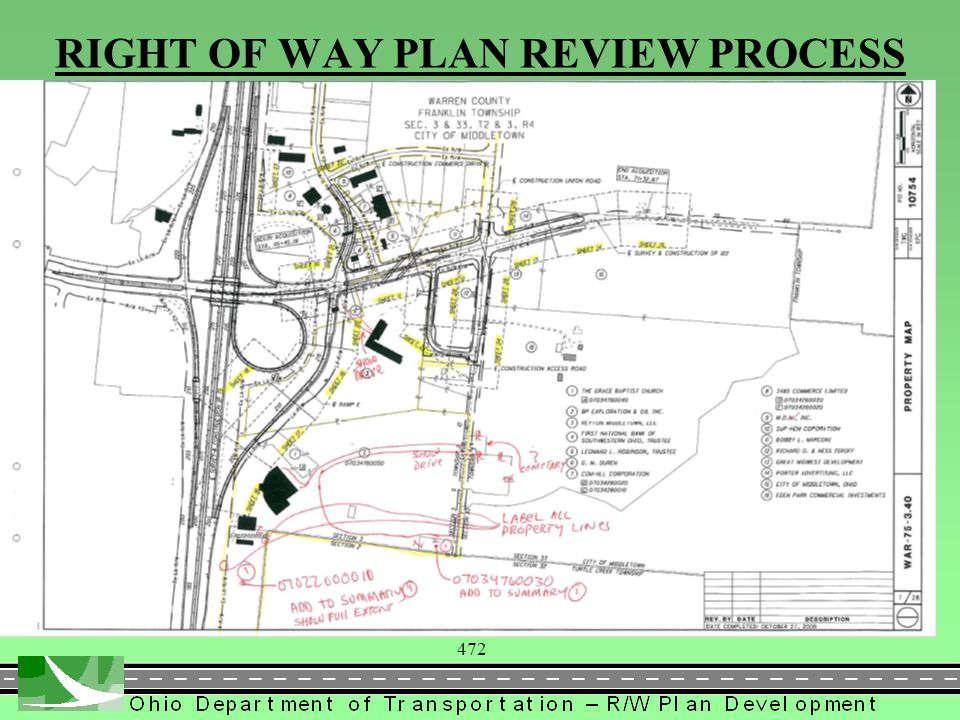 472 RIGHT OF WAY PLAN REVIEW PROCESS