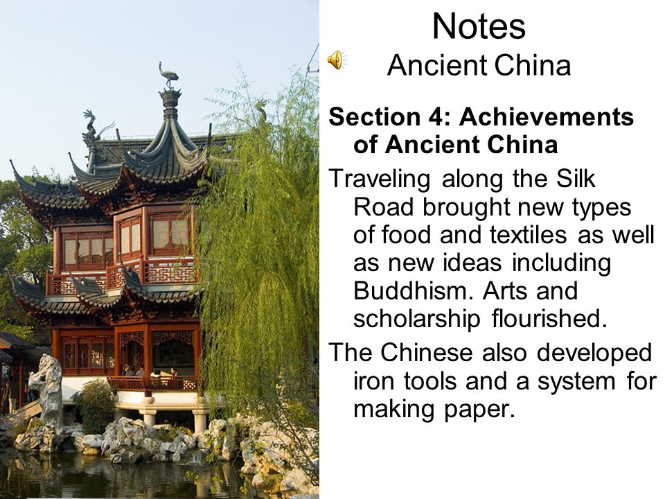Notes Ancient China Section 3: Warring Kingdoms Unite Shi Huangdi united China and became the