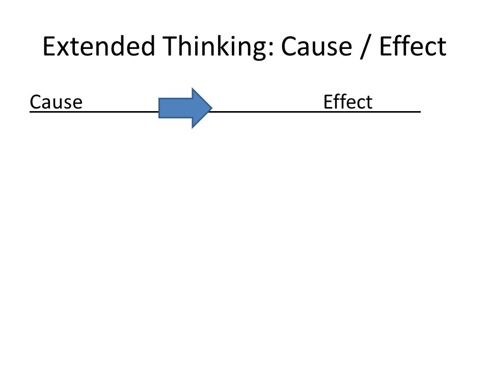 Extended Thinking: Cause / Effect CauseEffect