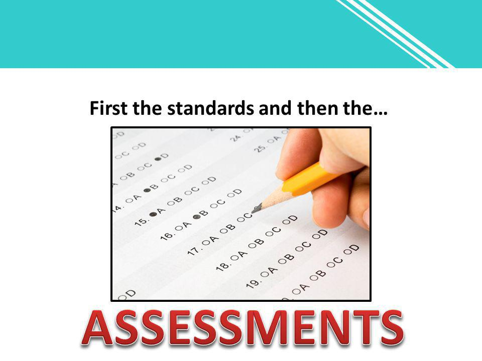 First the standards and then the…