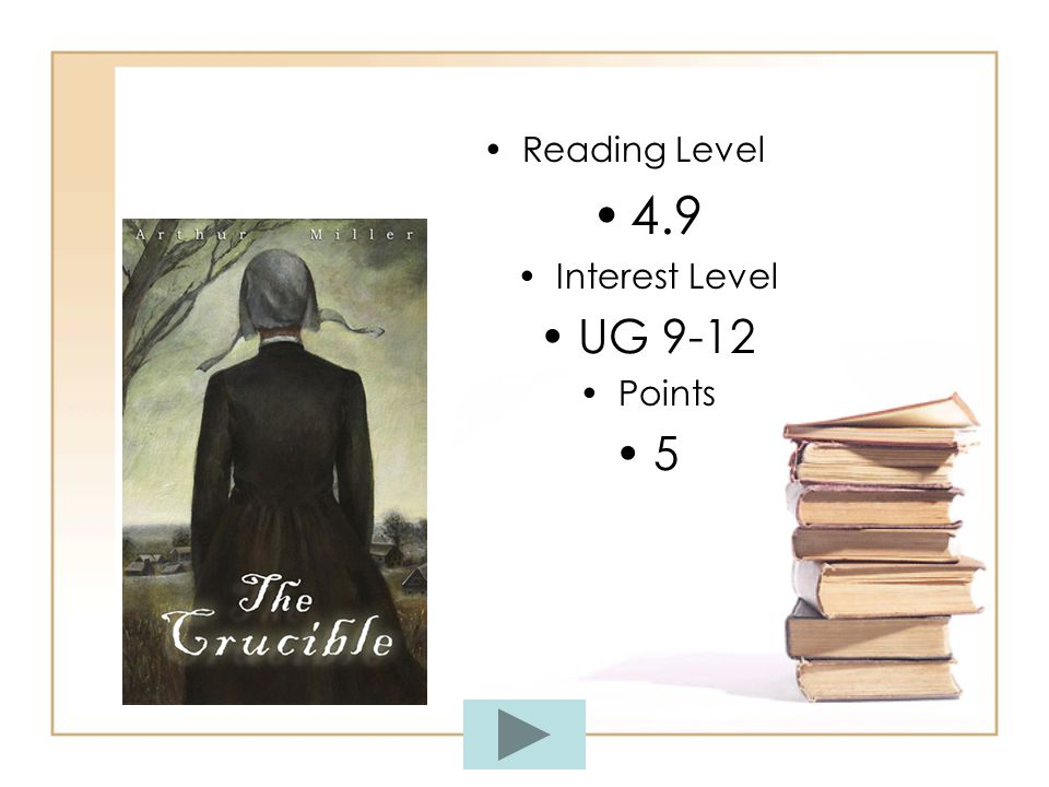 Reading Level vs. Interest Level Reading Level. Interest Level.