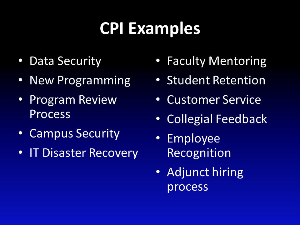 Action Projects and CPI Sources for project ideas – Systems Portfolio Feedback Report – Iowa Department of Education Accreditation Report – Suggestions from employees