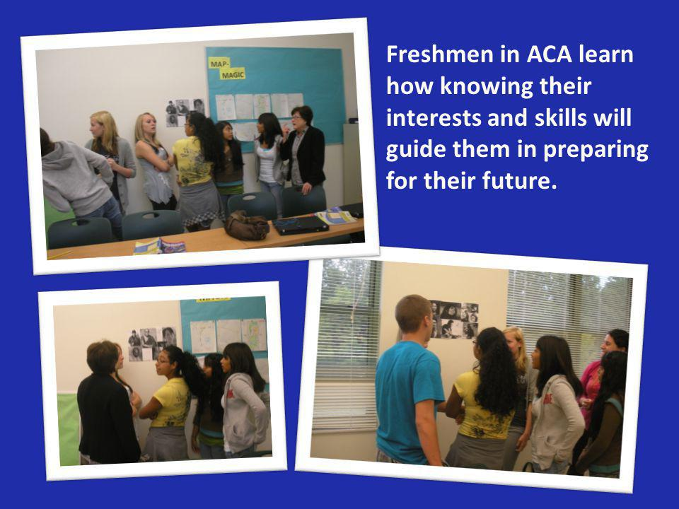 Freshmen in ACA learn how knowing their interests and skills will guide them in preparing for their future.