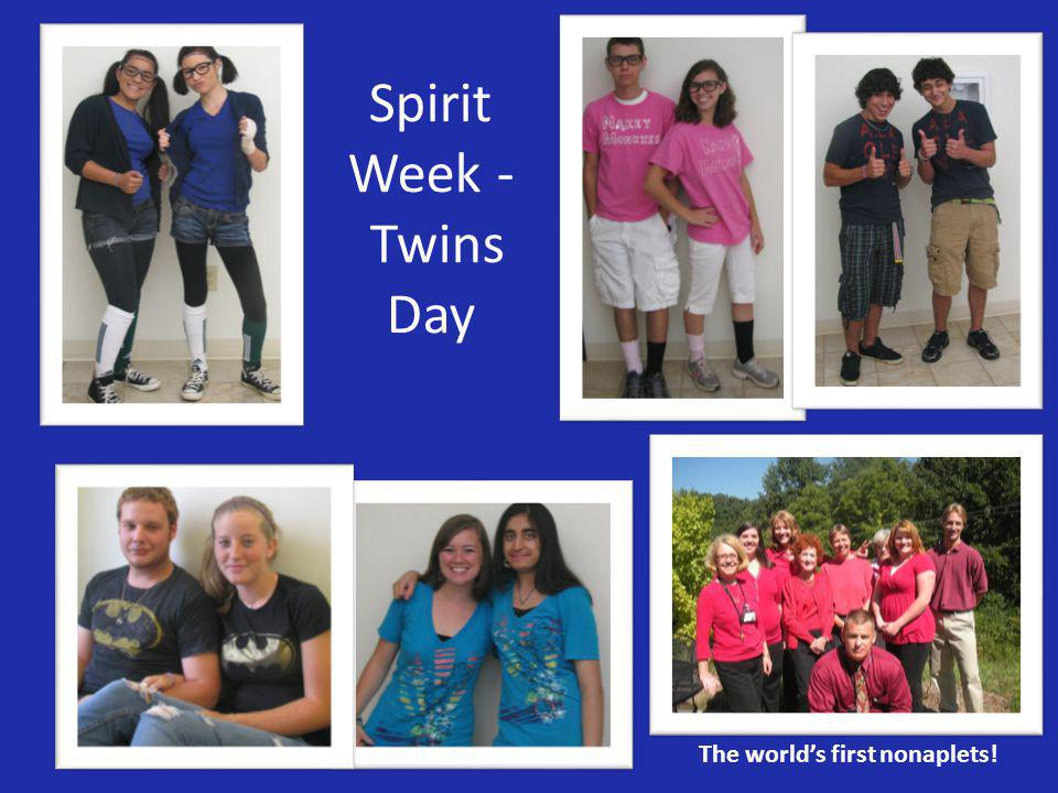 The world's first nonaplets! Spirit Week - Twins Day