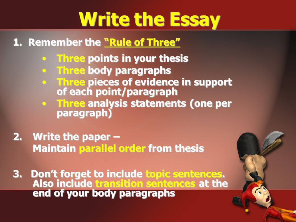 Analysis Statements The How or Why Statement (Explanatory Sentence): You must go beyond mere statement of historical facts to earn this point. You mus