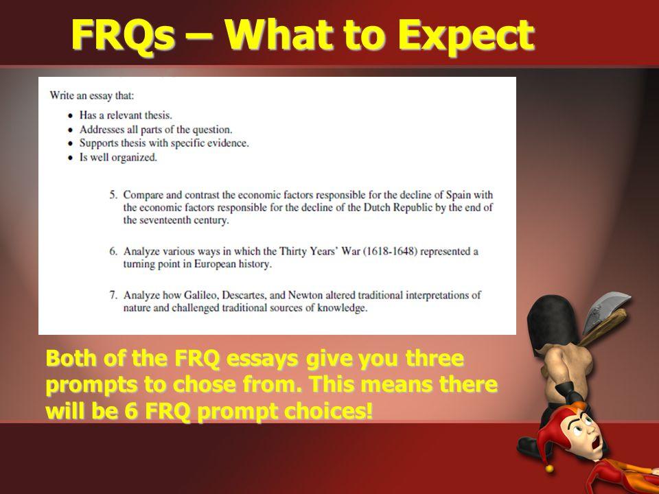 2009 FRQ Choices