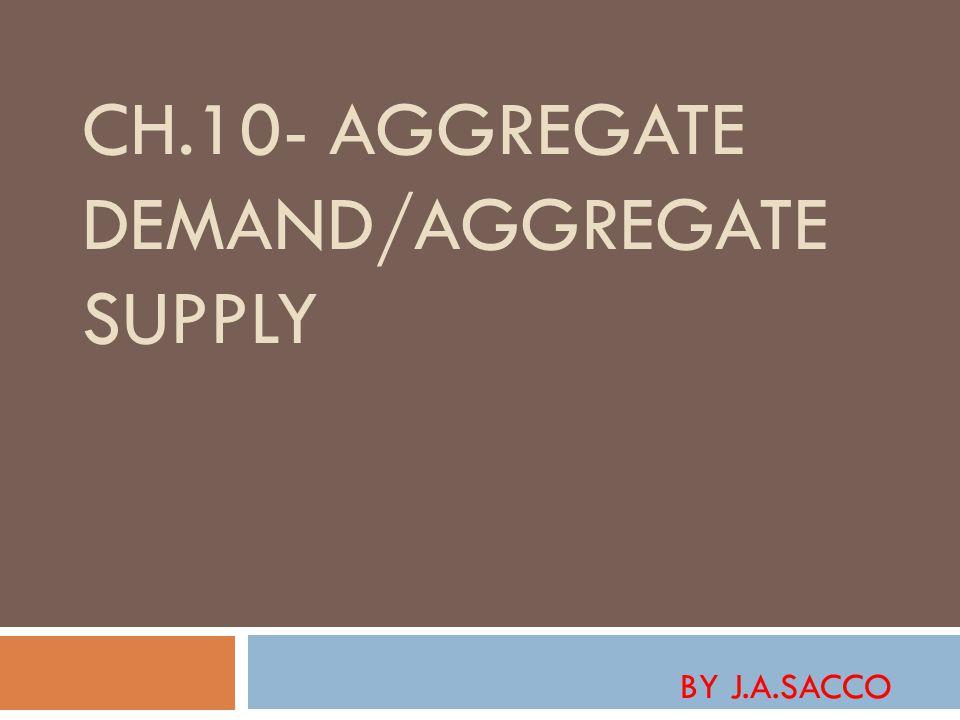 CH.10- AGGREGATE DEMAND/AGGREGATE SUPPLY BY J.A.SACCO