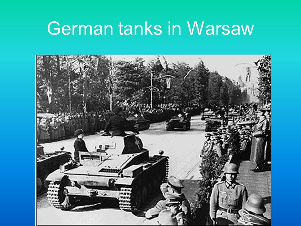 German tanks in Warsaw