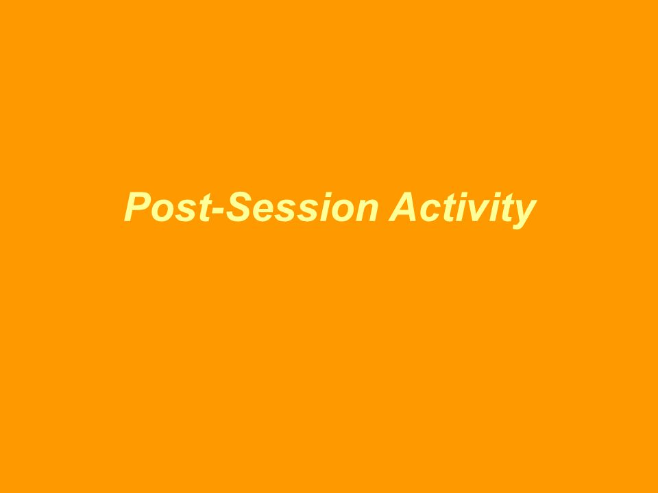 Post-Session Activity
