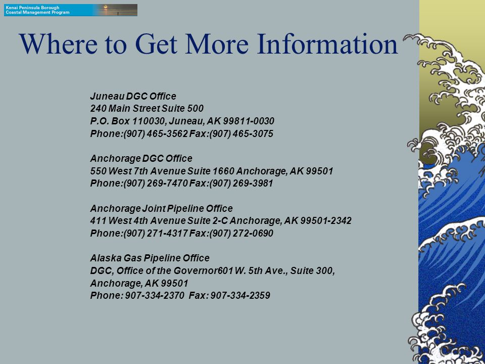 Where to Get More Information Dan Bevington, District CMP Coordinator: (800) 478-4441 #441 Jennifer Eskue, District CMP Assistant: (800) 478-4441 #265