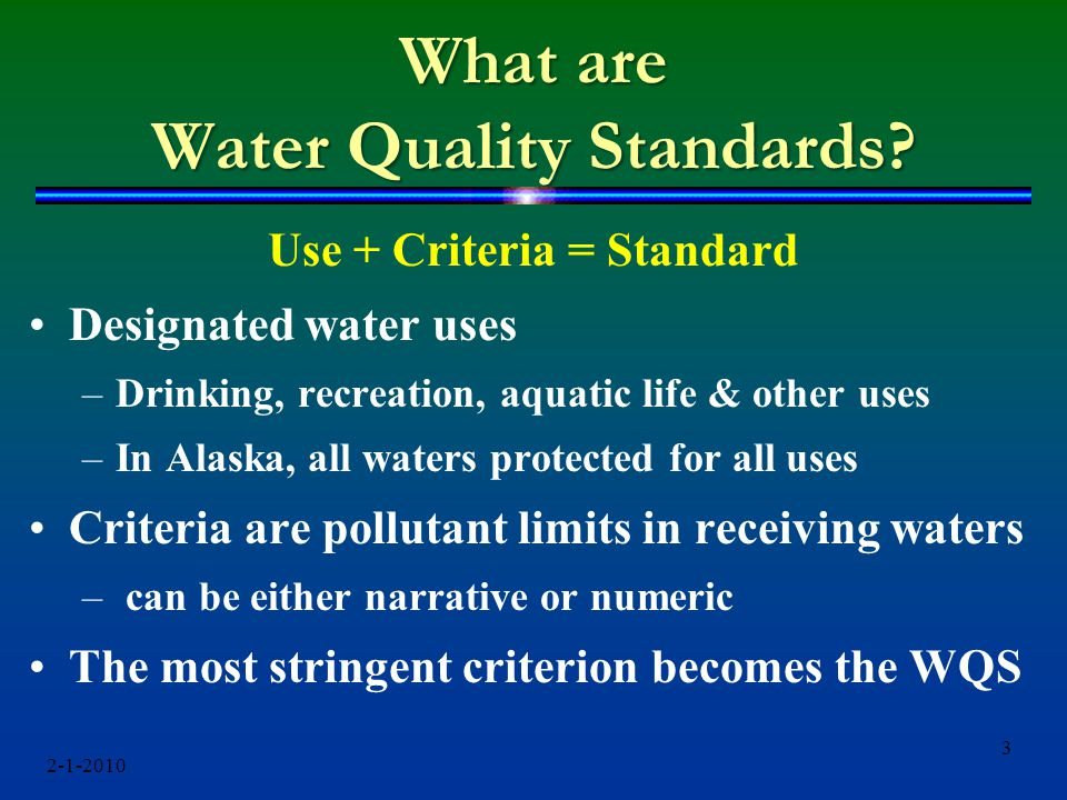 What are Water Quality Standards.