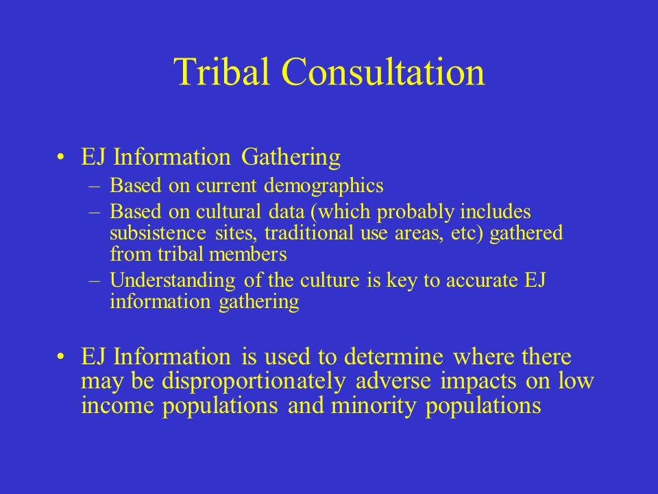 Tribal Consultation Government to Government (continued) –Section 161 in the 2004 Omnibus Bill passed by Congress directed the Federal Office of Management & Budget to consult with Alaska Native Regional and Village Corporations (ANCs) in the same manner prescribed for tribes in EO 13175 –This does not convey sovereign government status to ANCs, as Alaska tribes enjoy –Nothing in this legislation directs State DOTs to initiate consultation with ANCs, but this is anticipated.