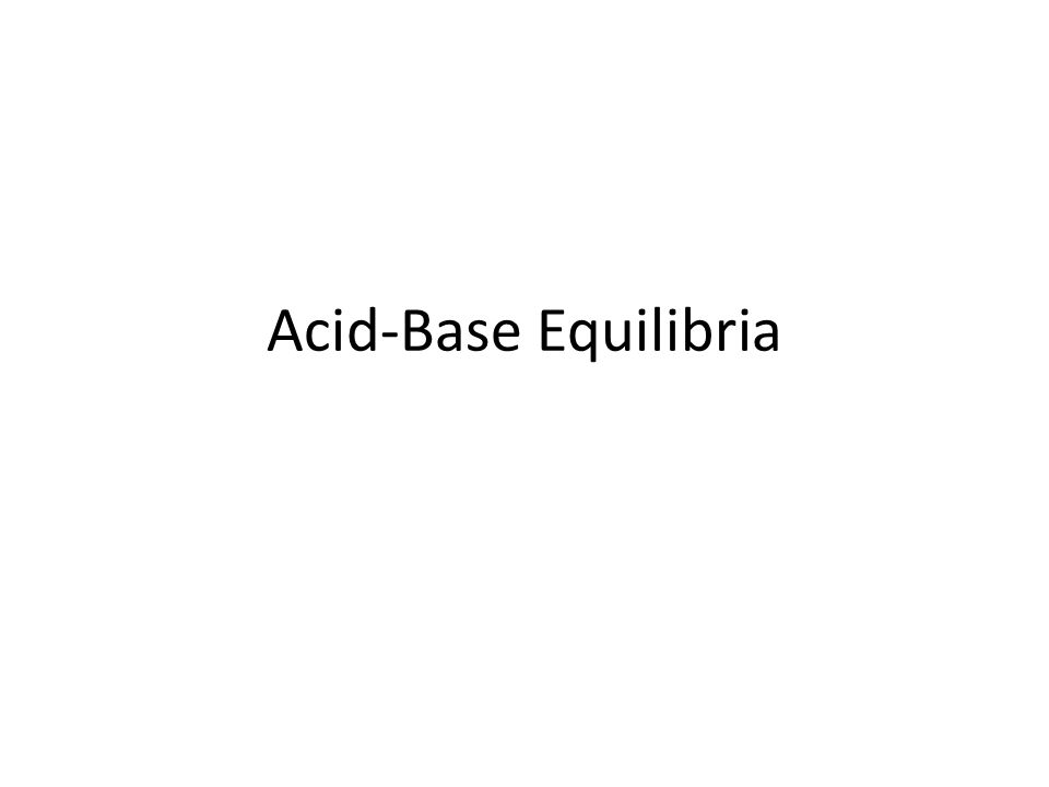 Strong A-B no equilibrium b/c all acid/base ionizes use original acid concentration to calculate pH Calculate the [H + ] and pH in a solution of 0.37M hydrochloric acid.