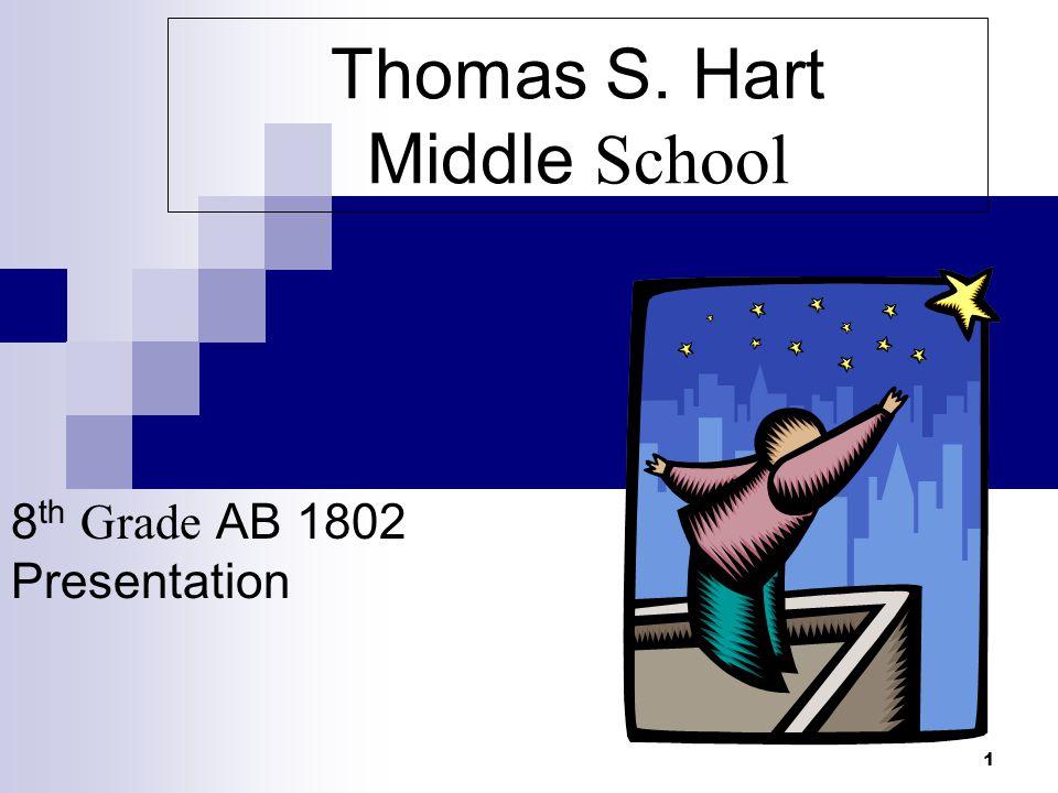 1 Thomas S. Hart Middle School 8 th Grade AB 1802 Presentation