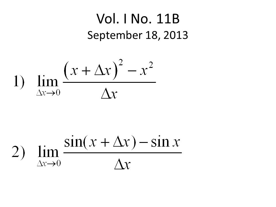 Vol. I No. 11B September 18, 2013