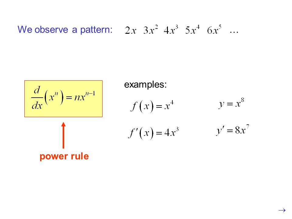 quotient rule: or