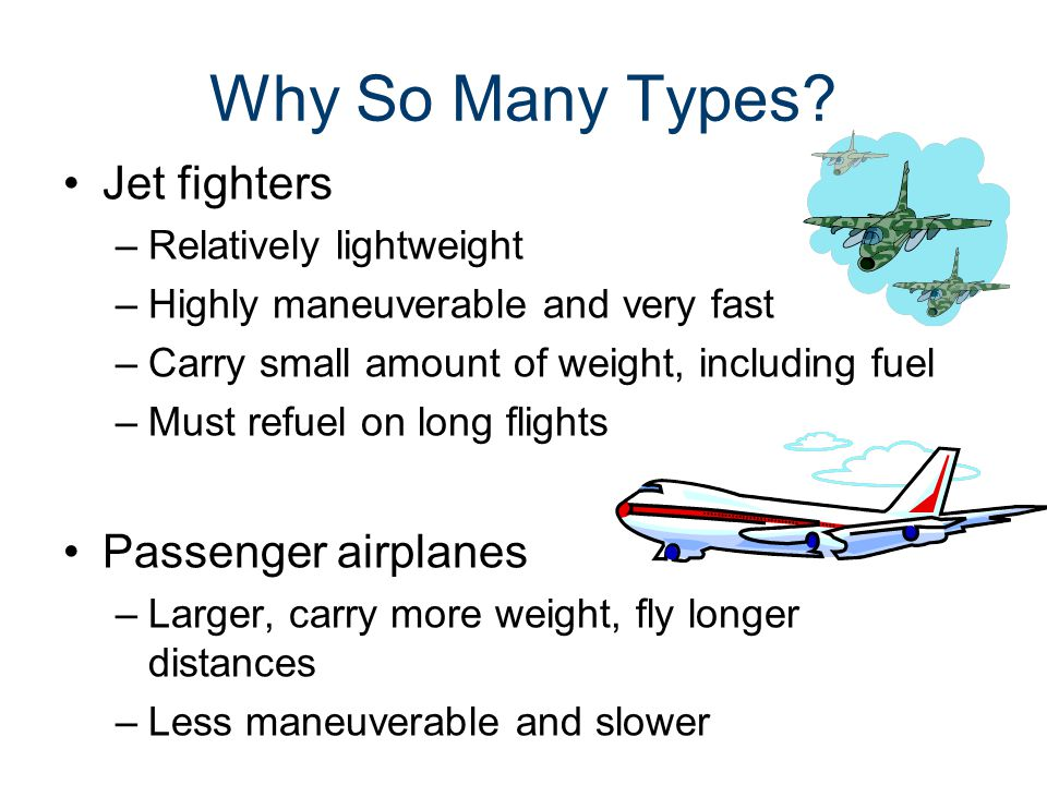 Why So Many Types? Wing types