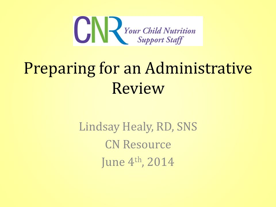 The Administrative Review (AR) is the new USDA review process.