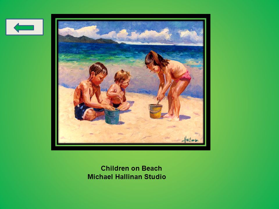 Donald Zolan oil painting of children.