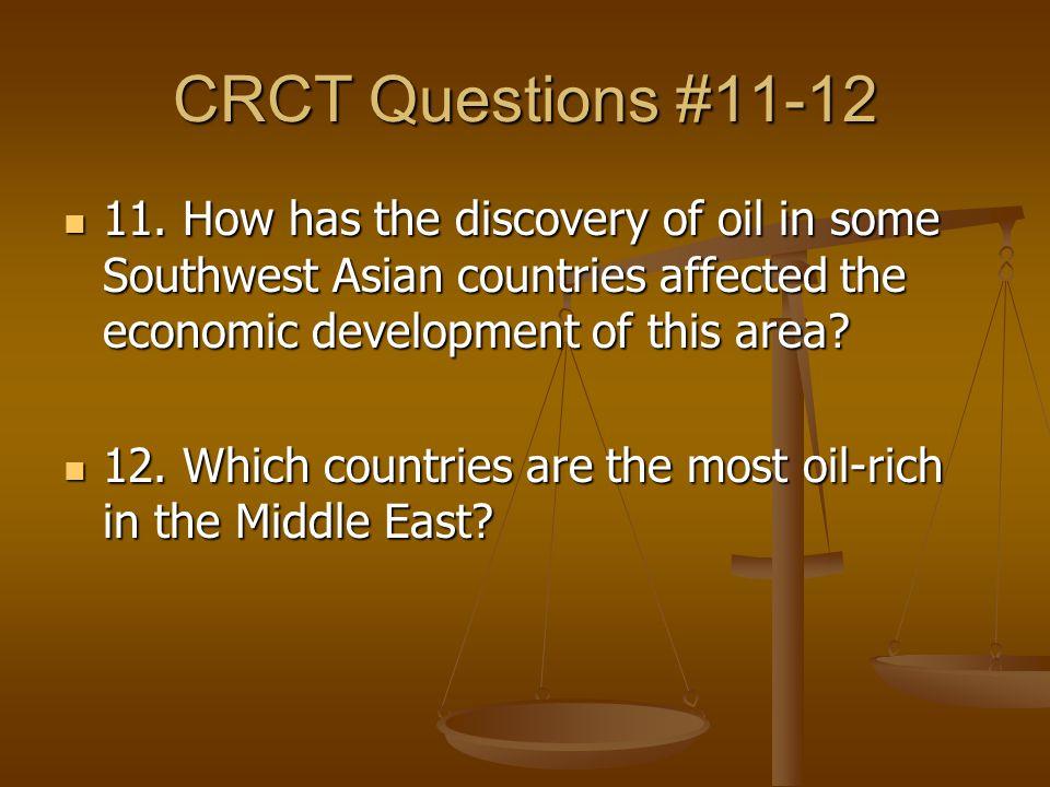 CRCT Questions #11-12 11.