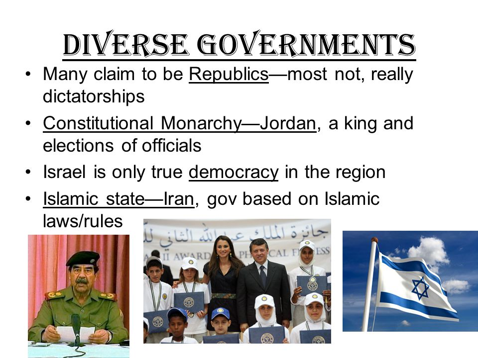 Arabs United and Divided Unite to destroy Israel Unite because of language and culture Divided –don't want to share resources (oil) Divided --religious differences (Sunni and Shiite)