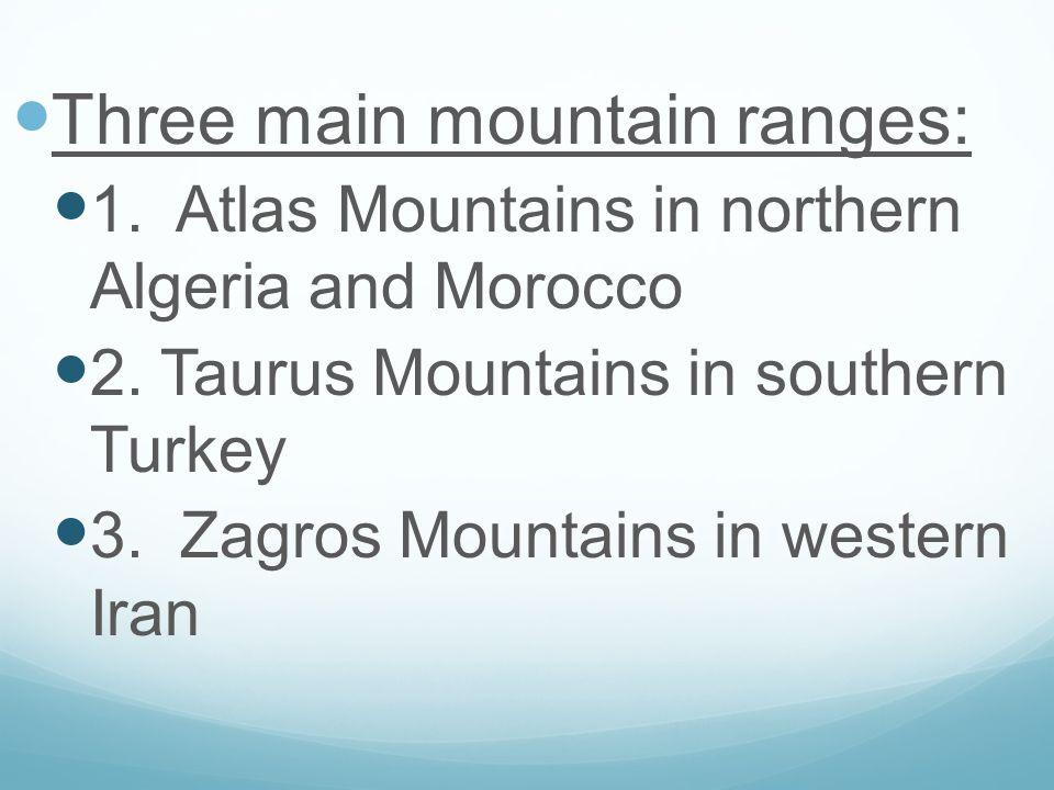 Atlas Mountains in Morocco Atlas Mountains of Morocco