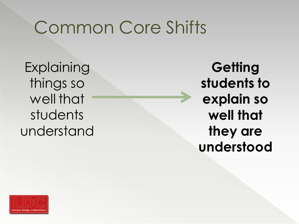 Common Core Shifts in Reading