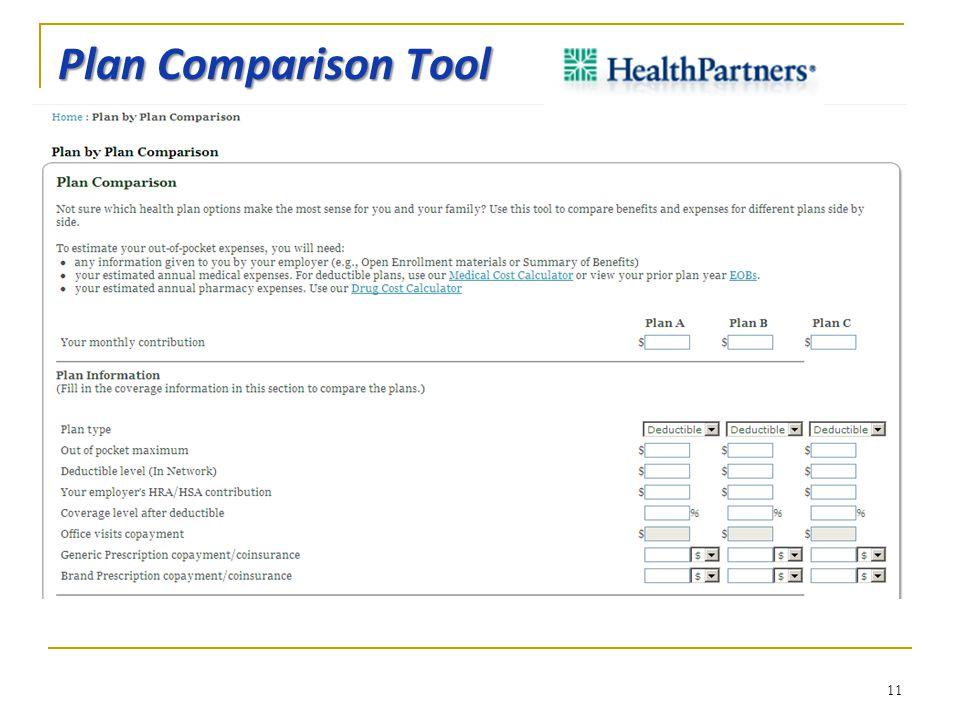 Plan Comparison Tool 11