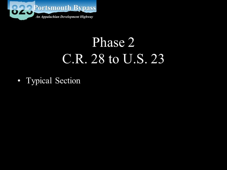 Phase 2 C.R. 28 to U.S. 23 Typical Section