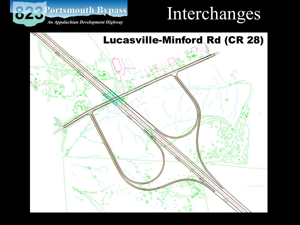 Interchanges Lucasville-Minford Rd (CR 28)