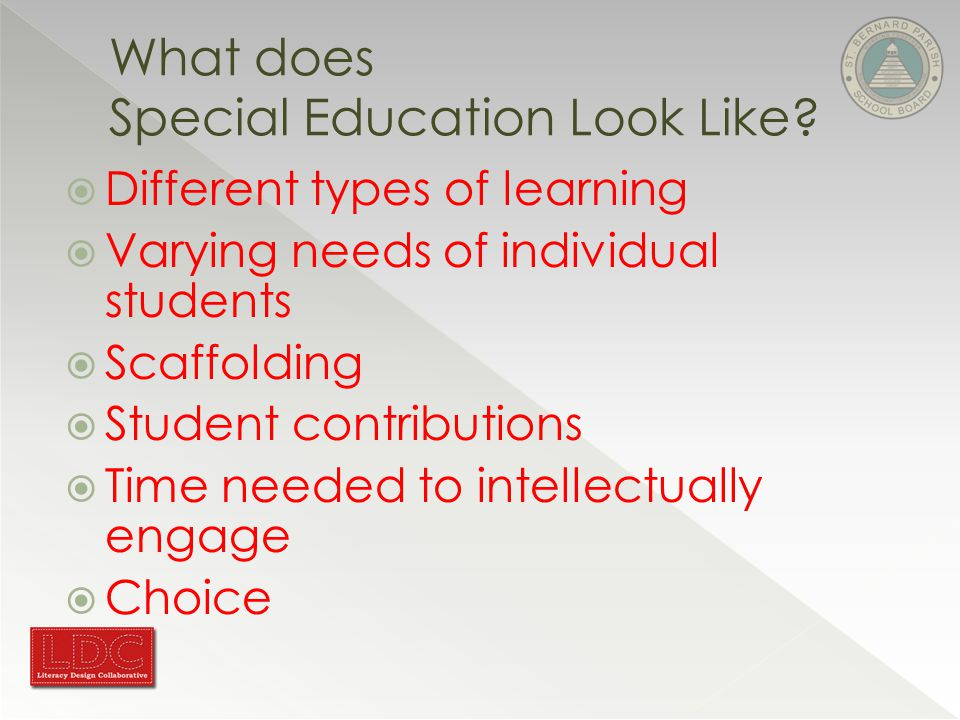 What does Special Education Look Like.