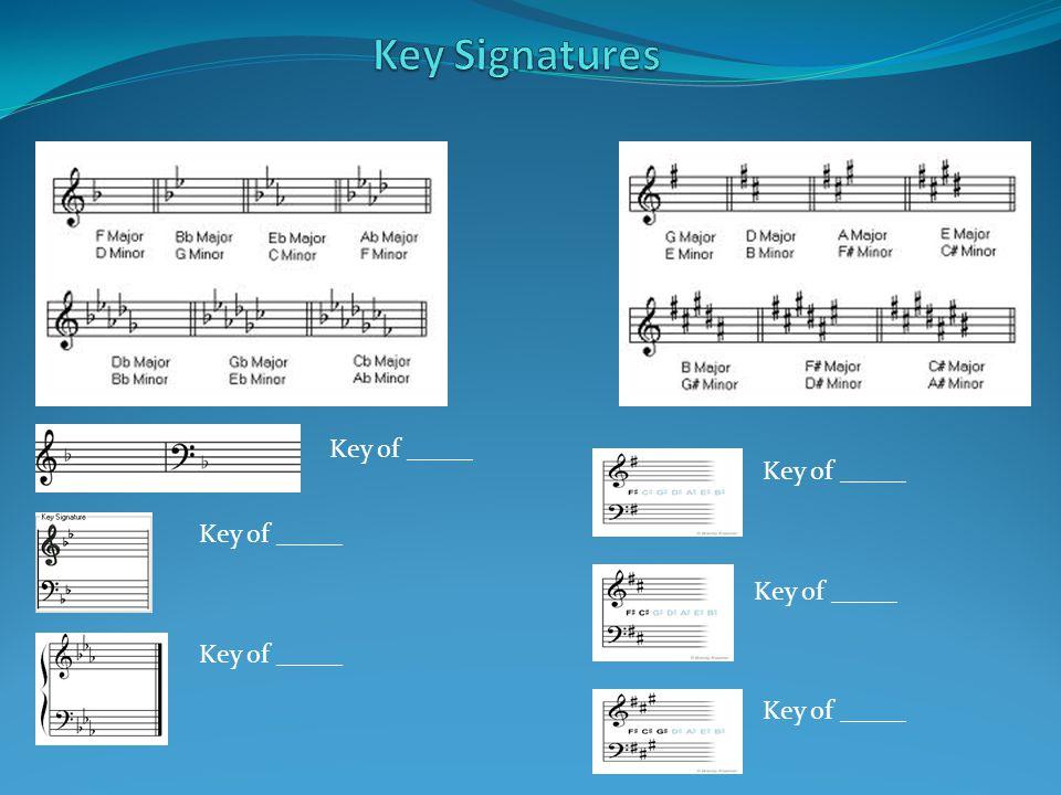 Key of _____
