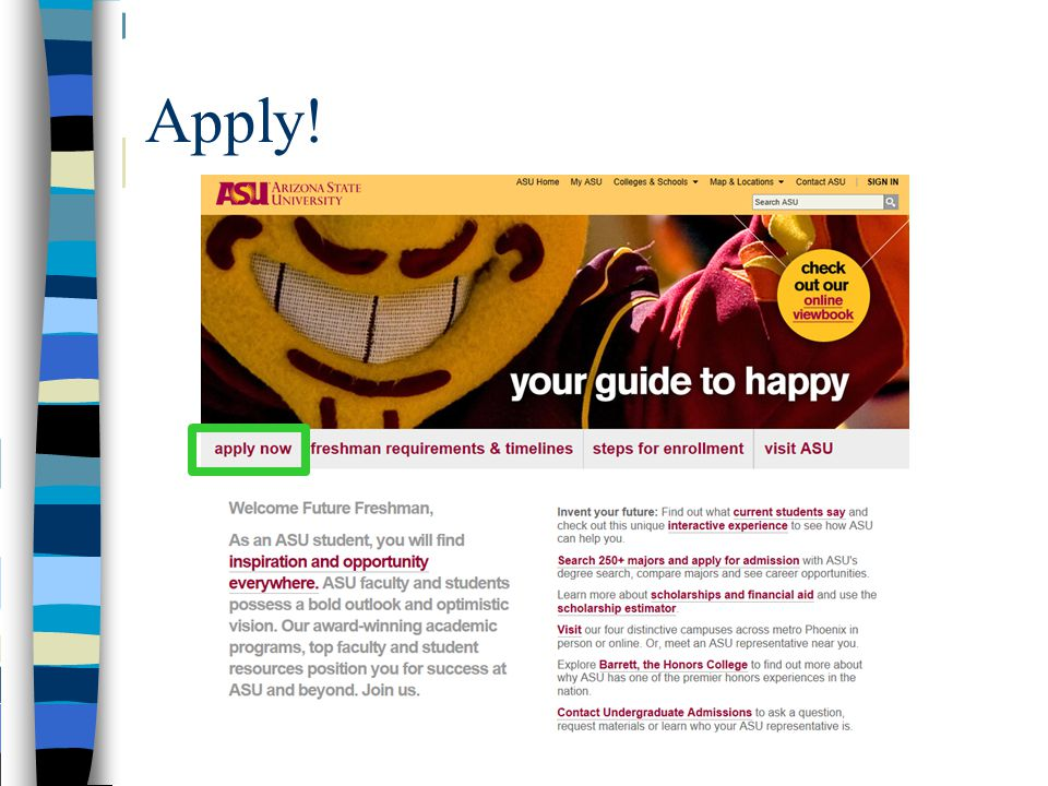 Find Freshman Admissions Information