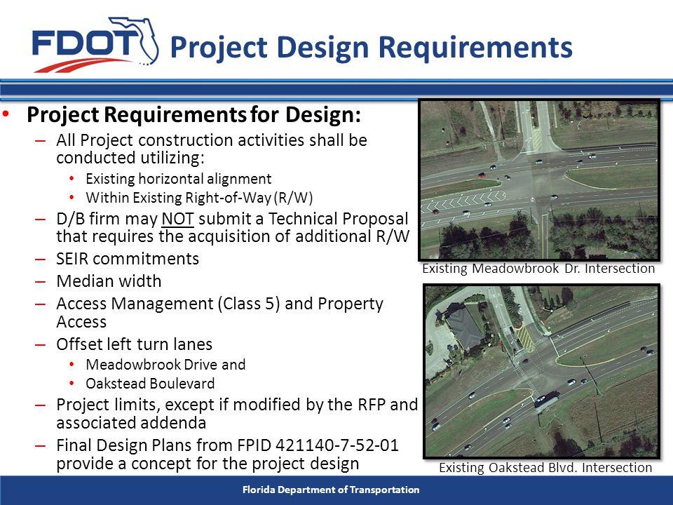 Florida Department of Transportation Response deadline: by 2:30 P.M.