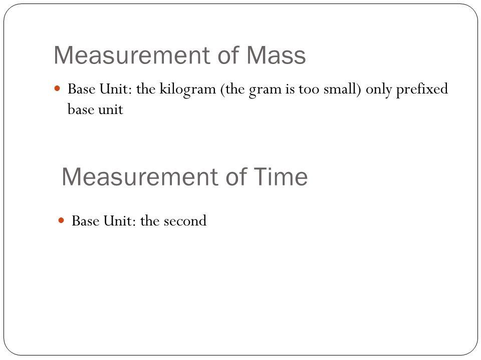 Measurements of Length Base Unit: the Meter Centimeter Millimeter Nanometer Micrometer Picometer